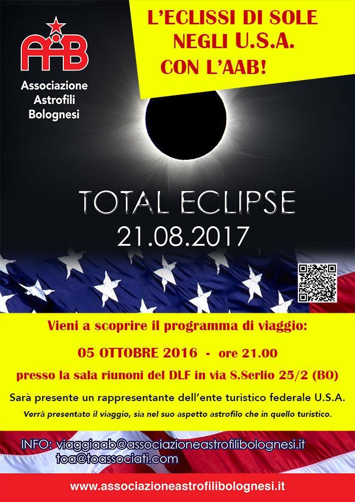 ECLISSE TOTALE DI SOLE - USA 2017 con l'AAB